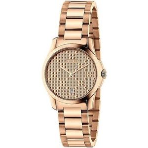 { Gucci } GG Logo Gold Watch YA126553